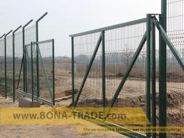Дыухсекционные откатные ворота