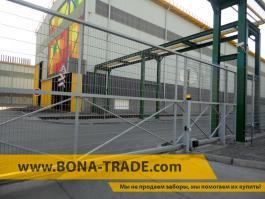 Откатные ворота RAL 7040