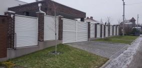 Забор жалюзи с калиткой и воротами