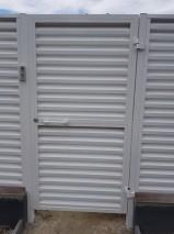 Калитка с зашивкой забором жалюзи вид снаружи
