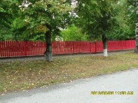 Малиновый штакетный забор_10