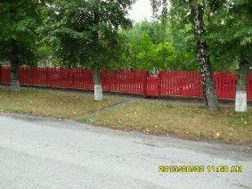 Малиновый штакетный забор_11