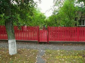 Малиновый штакетный забор_12
