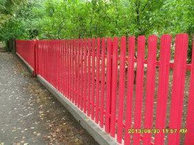 Малиновый штакетный забор_5