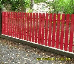 Малиновый штакетный забор_8