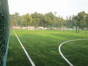 Металлический забор для футбольного поля