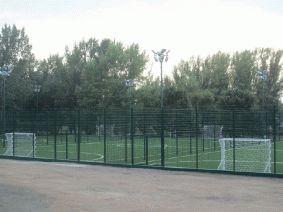 Ограждение футбольного поля