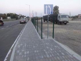 Металлический забор для автостоянки