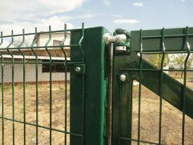 Крепление ворот к столбам 100х100х4,0 болтовыми петлями
