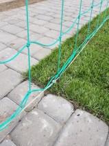Крепление троса для натяжки гасильной сетки
