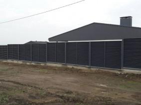 Ограждение частной территории забором жалюзи