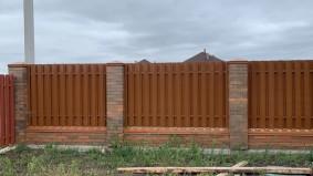 двухсторонний штакетный забор СТАНДАРТ между соседями
