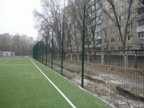 Секционный забор для футбольного поля