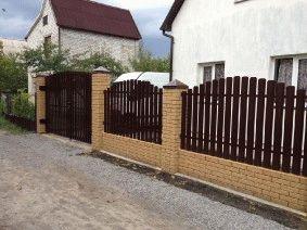 Забор штакетный Радуга