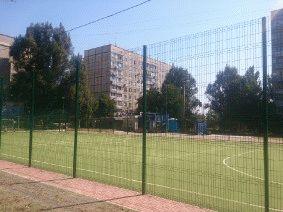 Забор для футбольного поля из металла_1