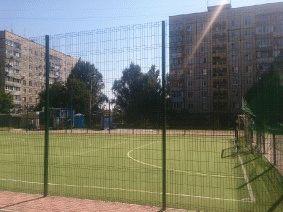Забор для футбольного поля из металла_2