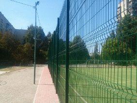 Забор для футбольного поля из металла_5
