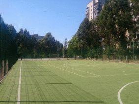 Забор для футбольного поля из металла_9