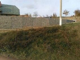 забор из габиона для частного ограждения