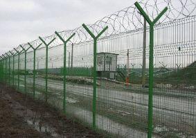 Забор с Y-образными наконечниками