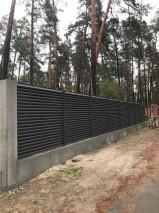 забор Жалюзи с установкой на ленточный фундамент