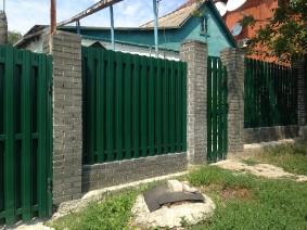 штакетный забор с 2хсторонней зашивкой