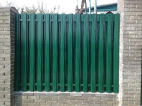 забор из металлического штакета