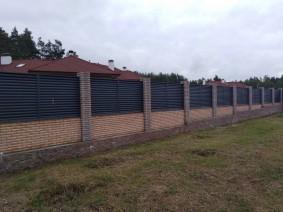 Забор Жалюзи из металла