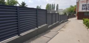 забор жалюзи графит