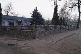 Декоративный забор из габионов_1