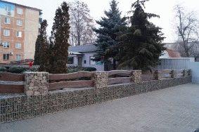 Декоративный забор из габионов_2