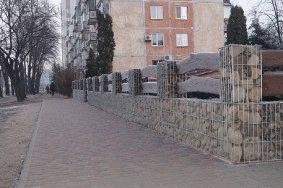 Декоративный забор из габионов_3