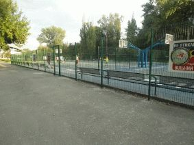 Баскетбольная площадка забор