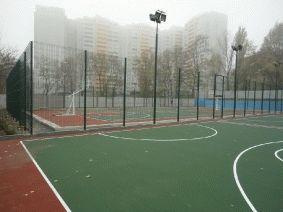 Площадка Баскетбольная с металлическим забором