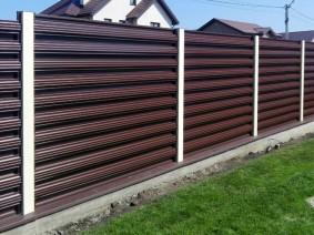 Забор из горизотального штакета_1