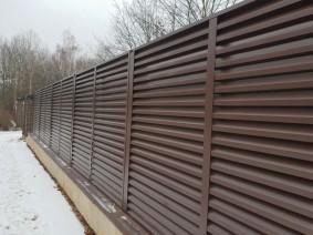 забор жалюзи ral8017