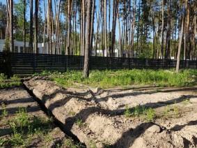 Забор жалюзи с нестандартным размещением ламелей