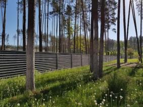 Ограждение загородных участков и частных территорий в стиле хай-тек
