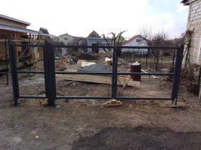 установка калитки и ворот