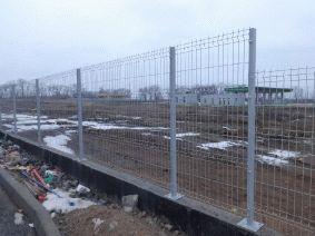 Забор из сетки с полимерным покрытием разной высоты