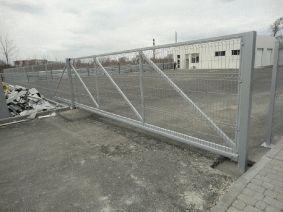 Откатные ворота зашивка секционный забор