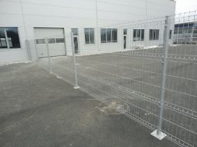 Забор на объекте Автосалон RAL9006